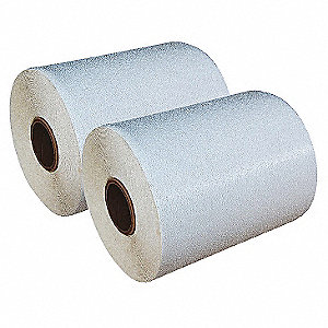 "Preformed Thermoplastic Pavement Markings, White, Rolls, 30 ft. Overall Length, 12"" Overall Width"