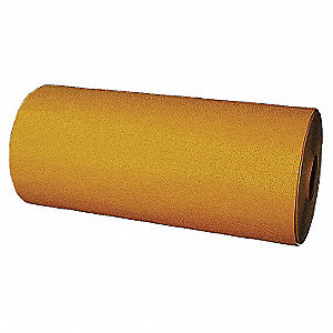 "Preformed Thermoplastic Pavement Markings, Yellow, Rolls, 30 ft. Overall Length, 24"" Overall Width"