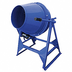 Concrete Mixer,3 Cu. Ft.,Electric,1/3HP