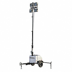 Light Tower w/ Portable Generator,6000W