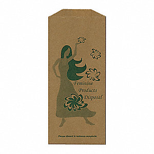 "Paper Sanitary Napkin Bag, 9"" Height, 1000 PK"