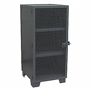 "Ventilated Storage Cabinet, Black, 66"" Overall Height, Assembled"