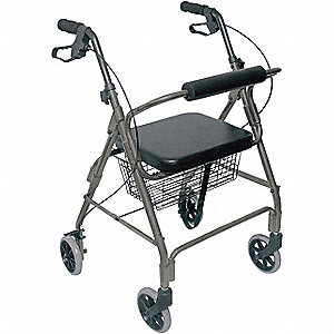 "Adult Rollator, Titanium, 32 to 36"" Overall Height"