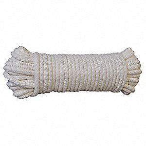"Cotton Weep Cord, 1/2"" Rope Dia., 100 ft. Length, Natural"