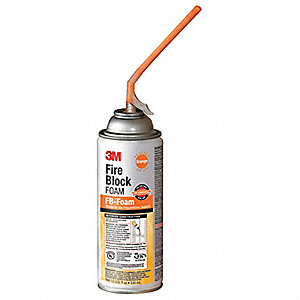 Fire Block Sealant,12 oz.,Orange,Aerosol