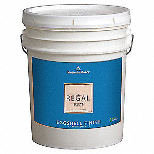 Interior Paint,Eggshell,5 gal,White Dove