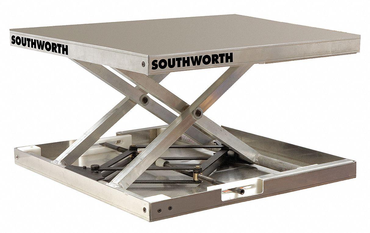 Southworth Stationary Scissor Lift Table 300 Lb Load