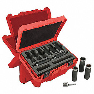 Impact Socket Set,1/2 In Dr,9 pc