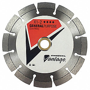 "4-1/2"" Wet/Dry Diamond Saw Blade, Segmented Rim Type"