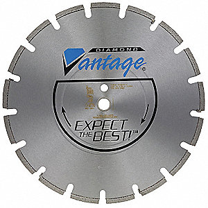 "14"" Wet/Dry Diamond Saw Blade, Segmented Rim Type"