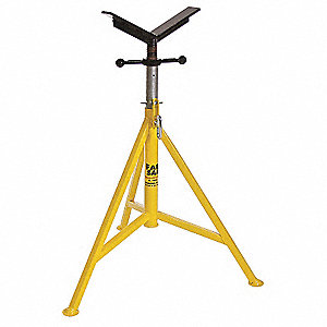 "V-Head Pipe Stand, 24"" Pipe Capacity, 32"" to 52"" Overall Height, 3500 lb. Load Capacity"