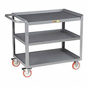Mobile Work Center,3 Shelf,42x24x35
