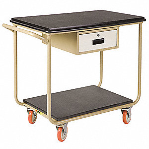 "Instrument Cart, 1000 lb. Load Capacity, 5"" Caster Dia., Polyurethane Caster Material"