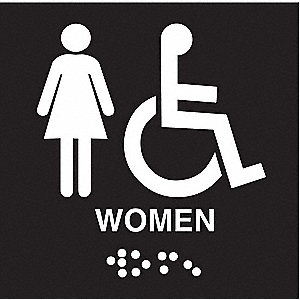 Sign,Braille,Legend Women,8 x 8 In.