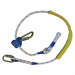Positioning Lanyard,6 ft.,310 lb.,Rope