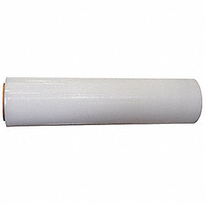 "Hand Stretch Wrap, Clear, 1000 ft. Length, 18"" Width, 120 Gauge"