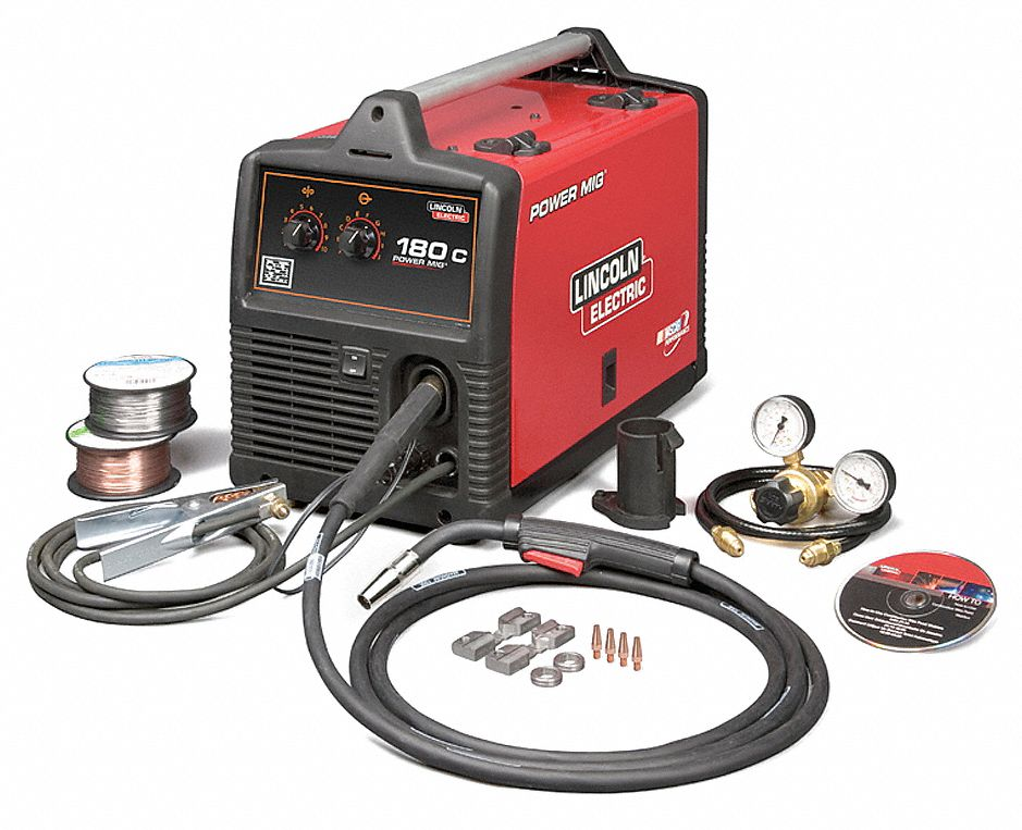 Lincoln electric mig welder power mig 180c series input for Lincoln electric motors catalog