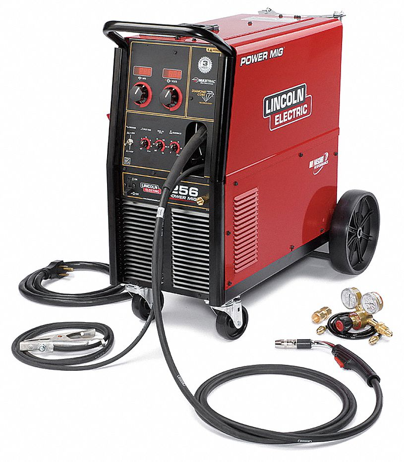 Lincoln electric mig welder wheeled 208 230vac 19r741 for Lincoln electric motors catalog