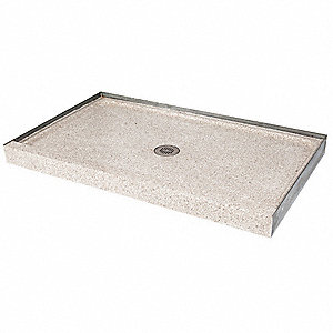 Shower Base,Rectangular,Marble Chips