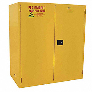 Flammable Safety Cabinet,44 Gal.,Yellow