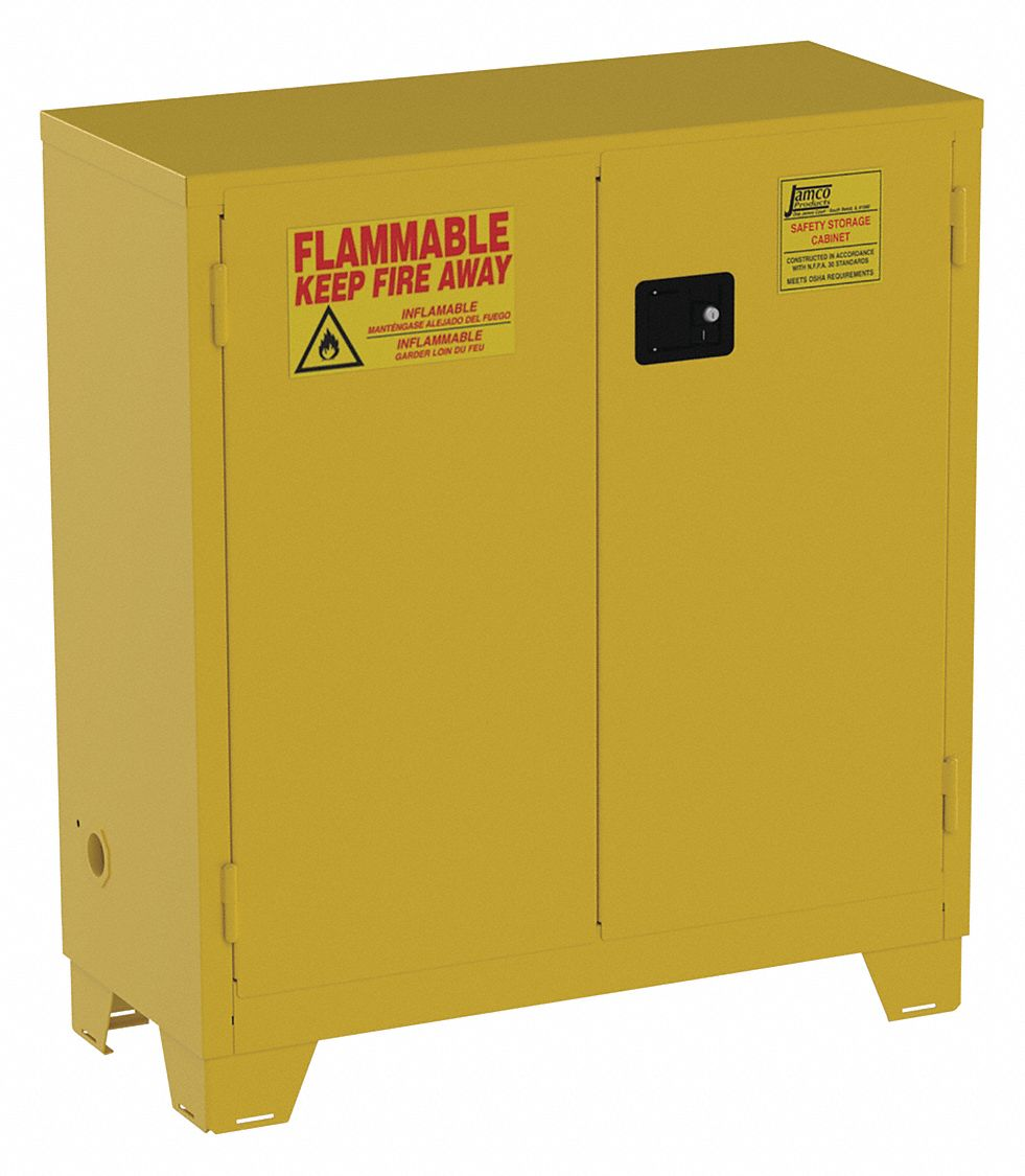 JAMCO 30 gal. Flammable Cabinet, Manual Safety Cabinet ...