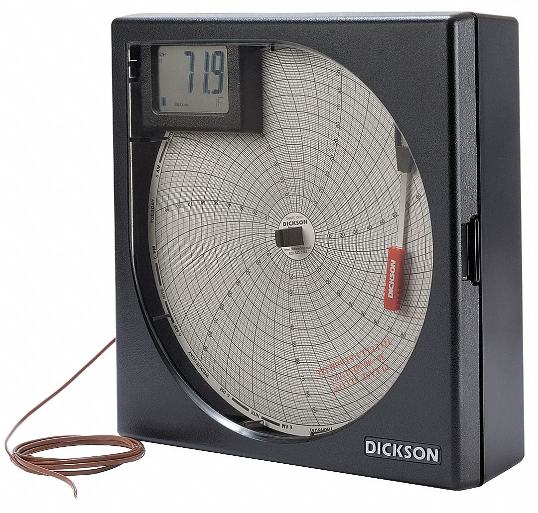 DICKSON Temperature Chart Recorder, KThermocouple