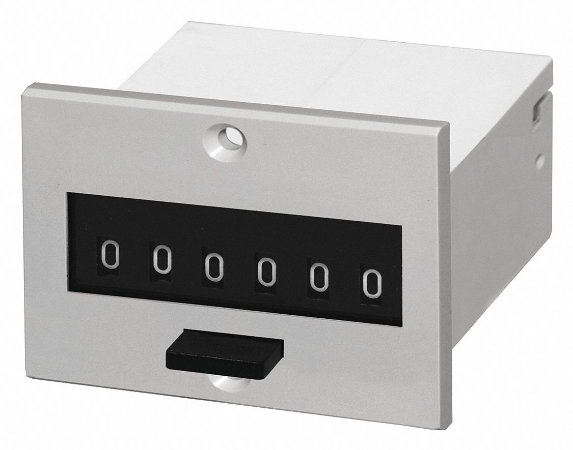Panel Mount Frequency Counter : Dayton electromechanical counter panel mounting number