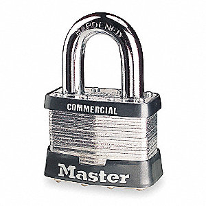 Padlock,KA,1 In H,5 Pin,Steel