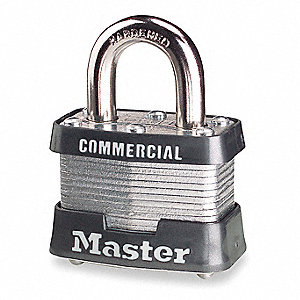 Padlock,KA,3/4 In H,4 Pin,Steel