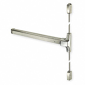 Exit Device, Series 2100, Stainless Steel, Surface Vertical Rod