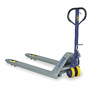 Pallet Jack,Blue/Gray,8 Gauge Steel
