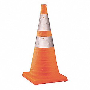 Traffic Cone,Collapsible,Orange,Nylon