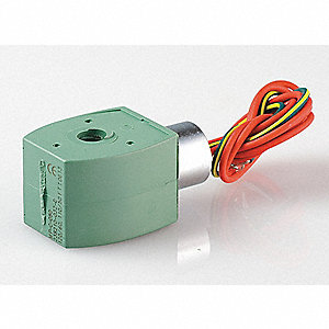 Solenoid Valve Coil, Coil Insulation Class F, 110/120VAC Voltage, 6.1/8.1 Watts
