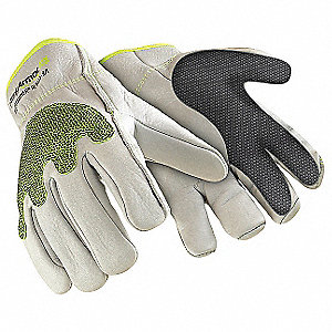Uncoated, Cut Resistant Gloves, High-Performance Polyethylene/SuperFabric® Lining, White, L, PR 1