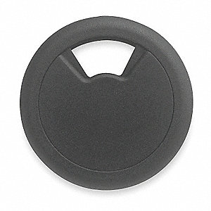 Grommet,Desk,3 1/8 In Dia,1 1/8 In H,Blk