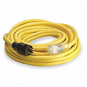 Indoor/Outdoor Extension Cord, 50 ft. Cord Length, 10/3 Gauge/Conductor, 20 Max. Amps