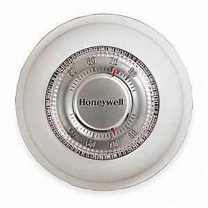 Low V Mechanical Tstat,40 to 90F,White
