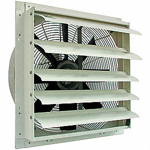 Exhaust Fan,20 In,115 V,3642 CFM