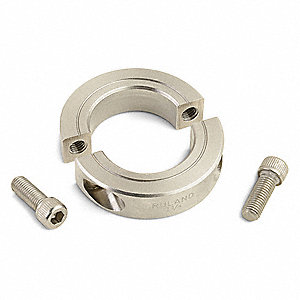 "303 Stainless Steel Shaft Collar, Clamp Collar Style, Standard Dimension Type, 1-1/2"" Bore Dia."