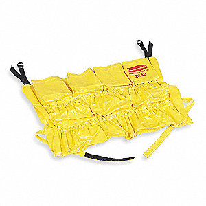 Yellow, Vinyl Receptacle Caddy Bag, 1 EA