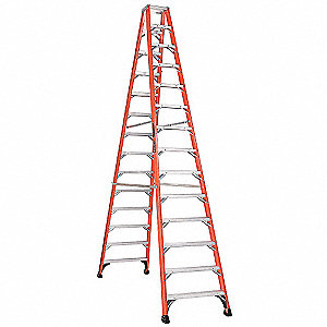 14 ft. 375 lb. Load Capacity Fiberglass Twin Stepladder