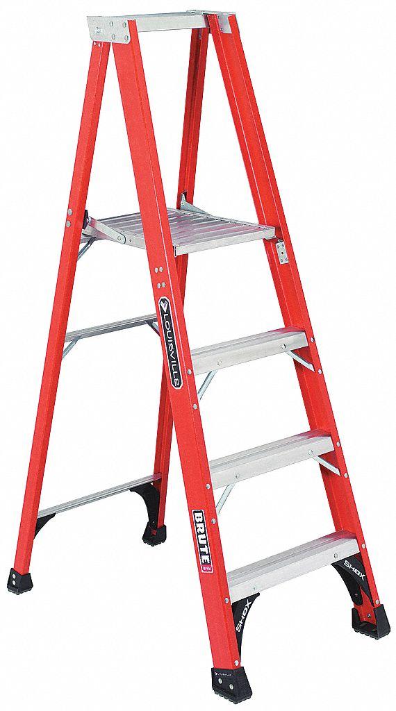 Louisville Fiberglass Platform Stepladder 5 Ft 9 Quot Ladder