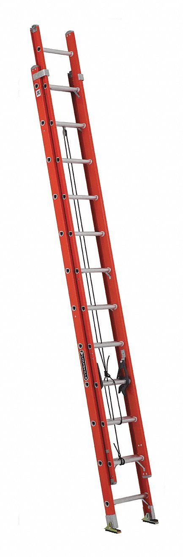 Louisville 24 Ft Fiberglass Extension Ladder 300 Lb