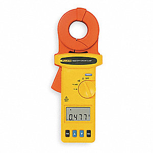 "Clamp On Earth Resistance Tester, 0.025 to 1500 ohm Ground Resistance Range, 1.38"" (35mm) Jaw Capaci"