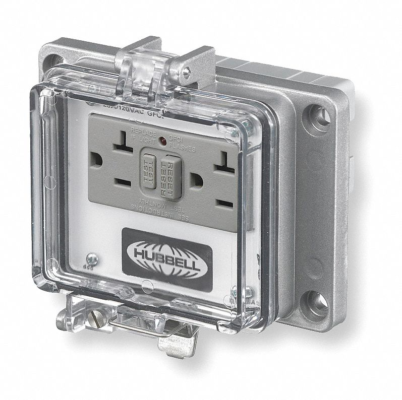 Hubbell Wiring Device Kellems Gray Access Port Metal