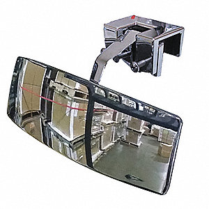 Vehicle Rear View Mirror,2x8 In