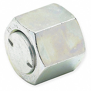 "Metal, Zinc Plated Steel, Compression x Male SAE-ORB Connection Type, 1/2"" Tube Size"
