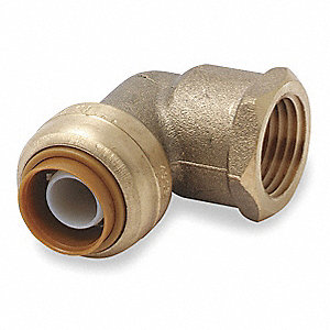 Metal Female Elbow, 90°, DZR Brass Body Material, Tube Connection Type