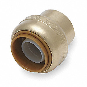 Metal End Stop, DZR Brass Body Material, Tube Connection Type