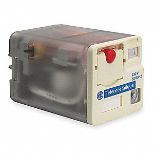 Plug In Relay, 8 Pins, Octal Base Type, 10A @ 277VAC/30VDC Contact Rating, 24VDC Coil Volts